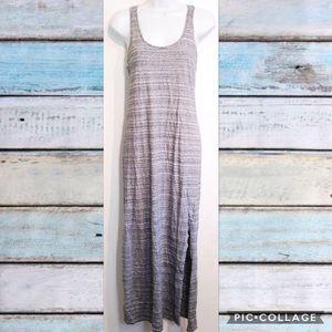 LOFT Grey Space Dyed Heather Maxi Dress